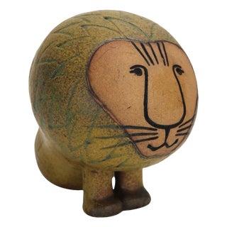 Ceramic Lion by Lisa Larsen For Sale