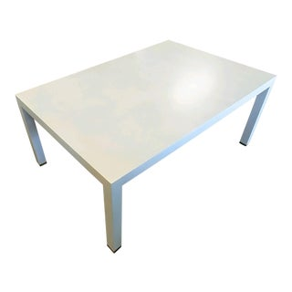 Contemporary Henredon Furniture Mark D. Sikes Melrose Ivory Cocktail Table For Sale