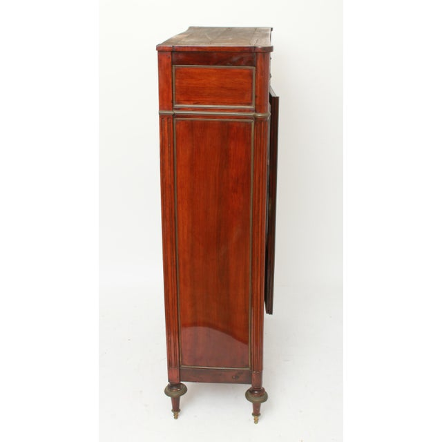 Late 19th Century Federal Style Mahogany Cabinet with Italian Marble Top For Sale - Image 4 of 11