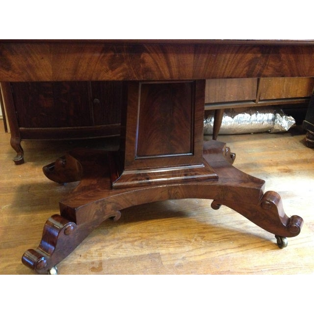 Empire Burl Mahogany Swivel Top Game Table For Sale In Washington DC - Image 6 of 13