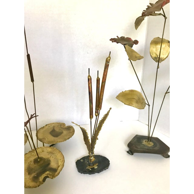 Vintage Botanical Brass Sculptures - Set of 4 - Image 5 of 7