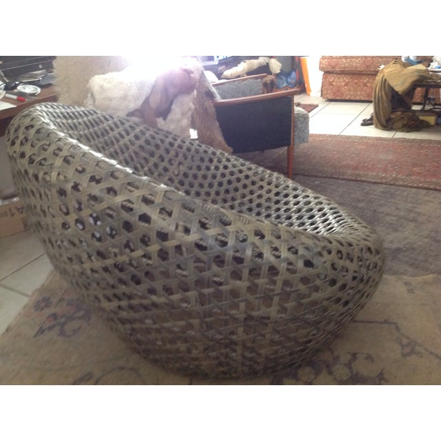 Modernist Rattan Wire Chair - Image 10 of 11