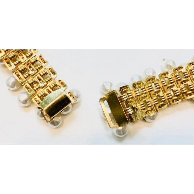 Gold 1980s Christian Dior Pearl Belt For Sale - Image 8 of 12