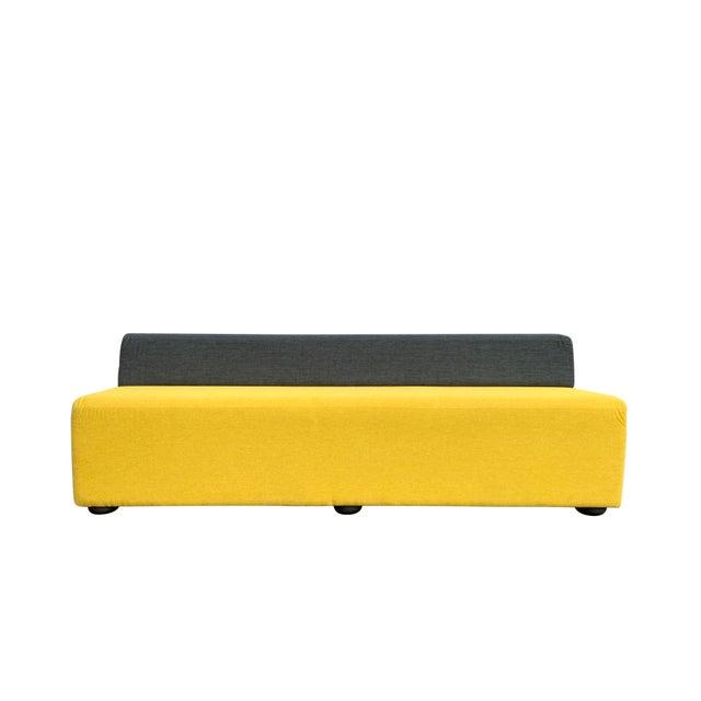 Yellow Knoll Armless Sofa For Sale - Image 8 of 8