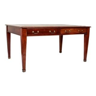 George III Style Mahogany Partners Desk