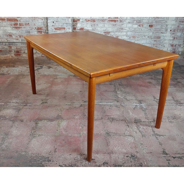 1960s Danish Mid-Century Teak Dining Table W/6 Chairs by Koefoeds Hornslet For Sale - Image 5 of 12