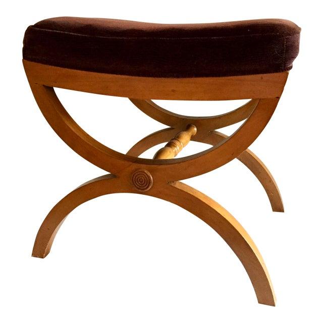 Vintage Oak Vanity Seat - Image 1 of 5