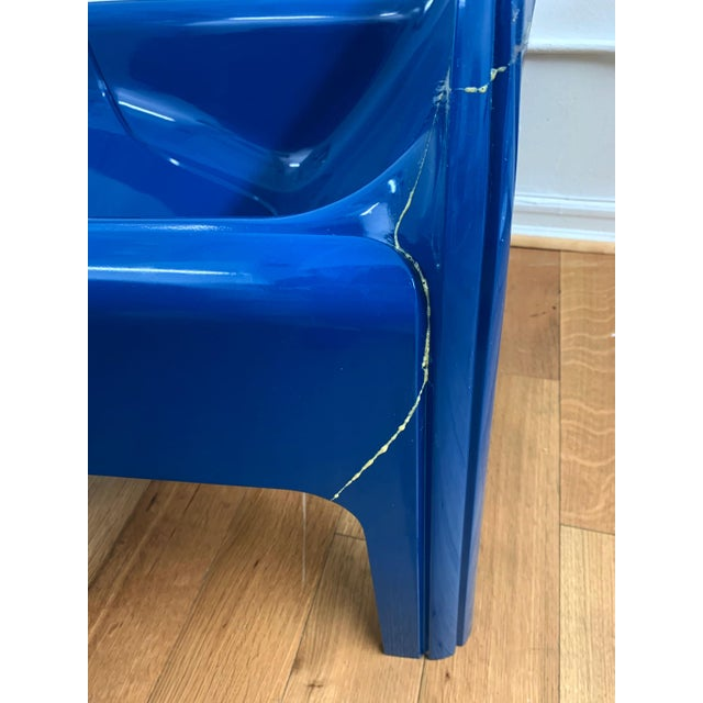 1970s Vintage Gae Aulenti for Kartell Italian Lounge Chairs- A Pair For Sale - Image 9 of 13