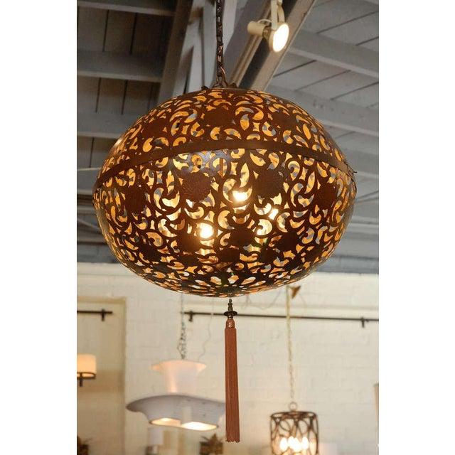 Large Japanese Lantern Fixture - Image 8 of 8