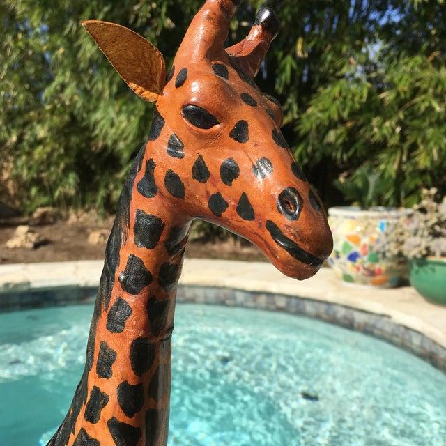 Vintage Bohemian Leather Giraffe - Image 4 of 8