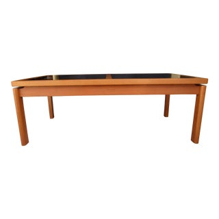 Danish Modern Teak and Smoked Glass Coffee Table For Sale