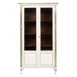 Louis XVI Style Painted Antique Bookcase