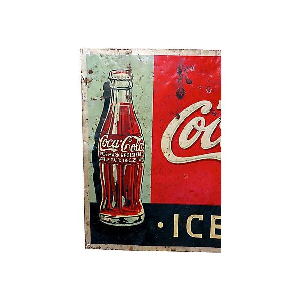 1920s Coca-Cola Advertising Sign - Image 2 of 6