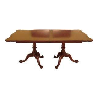 Henkel Harris Cherry Dining Room Table W. Claw Feet For Sale