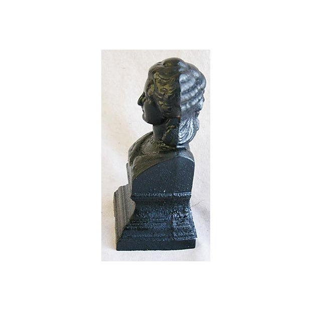 Antique 19th C. French Iron Female Bust Fragment - Image 6 of 7