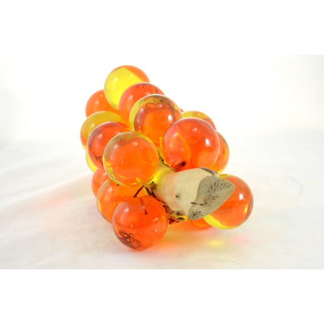 1960s Orange & Yellow Lucite Grapes - Image 7 of 7