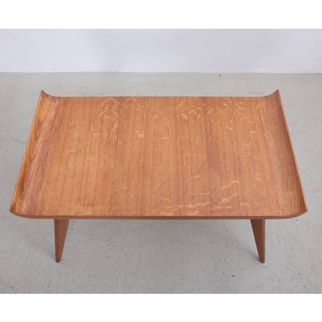 Spanish Modernist Pagoda Coffee or Side Table in Oak by Manuel Barbero 1953 For Sale - Image 4 of 5