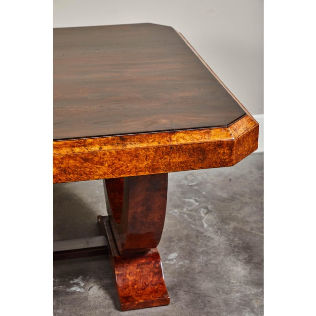 Rosewood Early 20th C. French Colonial Art Deco Dining Table For Sale - Image 7 of 11