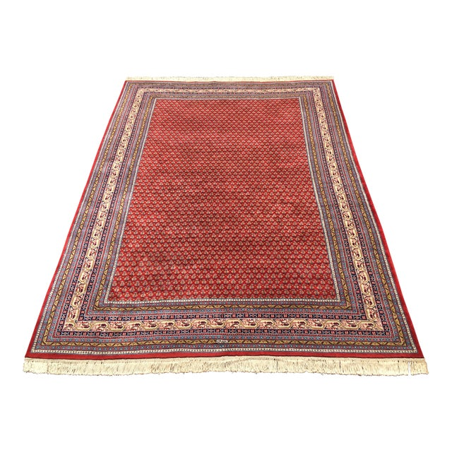 1990s Handknotted Mir Area Rug- 8′7″ × 11′11″ For Sale