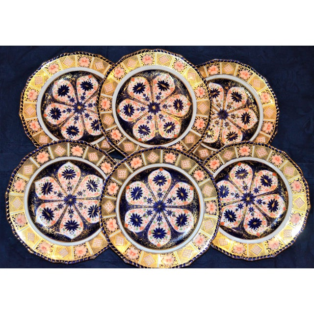 Royal Crown Derby Imari Rope Edge Plates - Set of 6 For Sale - Image 5 of 10