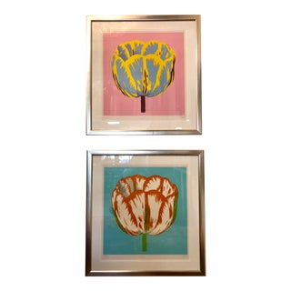 Modern Chris Outlaw Tulip Dyptych Prints - a Pair For Sale