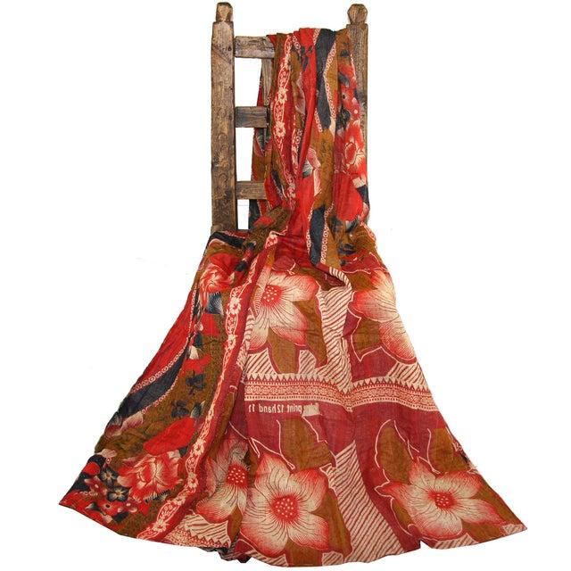 Vintage Floral Kantha Quilt - Image 2 of 3