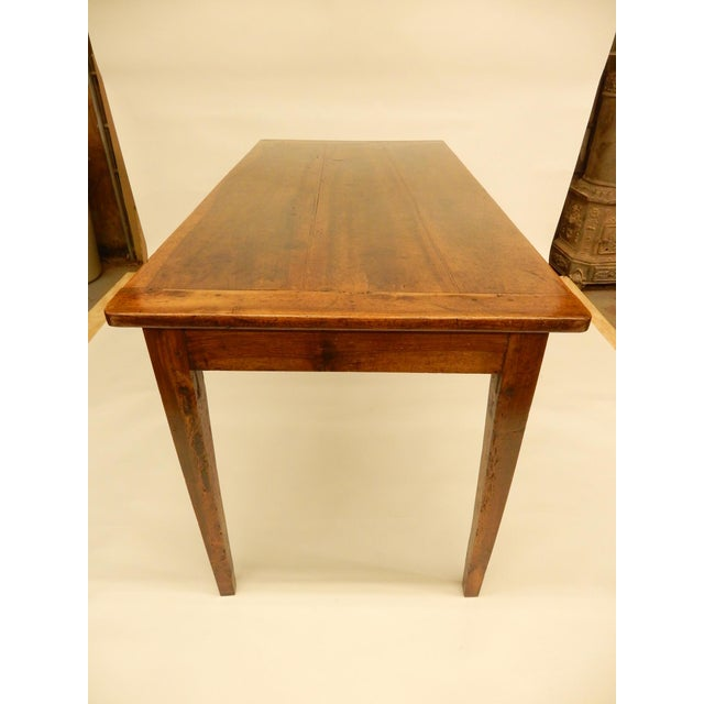 Traditional French Provincial Walnut Farm Table For Sale - Image 3 of 6