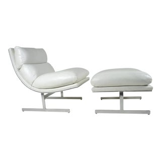Modern Lounge Chair and Ottoman by Kipp Stewart for Directional, circa 1970