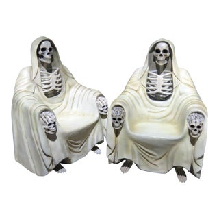 Pair of Grim Reaper Style Chairs For Sale