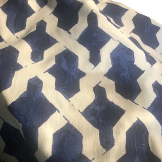Agiasos by Richard Smith Navy & White Fabric- 2.25 yards For Sale