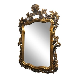 Carved Gold Gilt Mirror For Sale