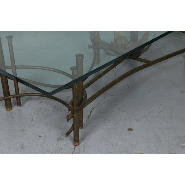 Brutalist Lotus Coffee Table For Sale - Image 4 of 10