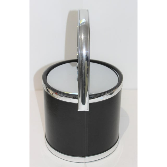 Plastic Vintage Kraftware Ice Bucket in Faux Leather For Sale - Image 7 of 13