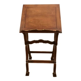 Transitional Vintage Italian Mahogany Bookstand For Sale