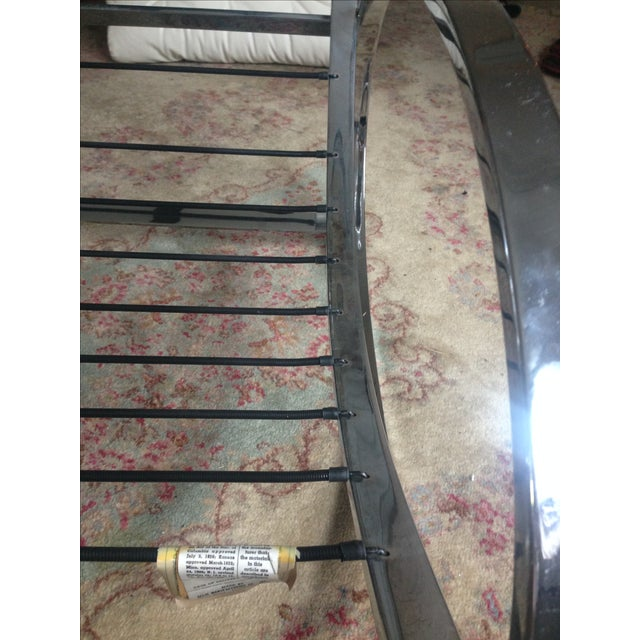 Metal Selig Chrome Leatherette Ellipse Rocking Chair For Sale - Image 7 of 7
