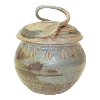 Southwestern Pottery Covered Jar For Sale
