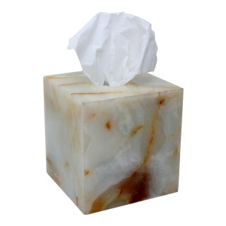 White Marble Tissue Box Holder