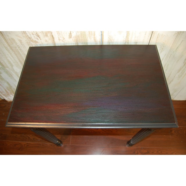 Black Table with Jewel Toned Surface - Image 8 of 8