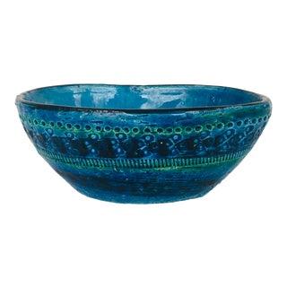 Mid-Century Aldo Londi for Bitossi Signed Ceramic Bowl For Sale