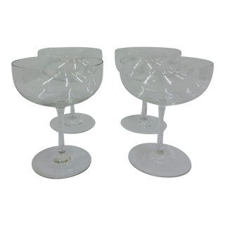 Set of Vintage Glass Coupes For Sale
