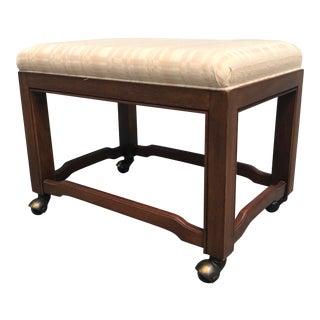 1970s Vintage Drexel Heritage Walnut Bench For Sale