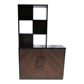 1950s Paul Frankl Stepped Room Divider Cabinet For Sale