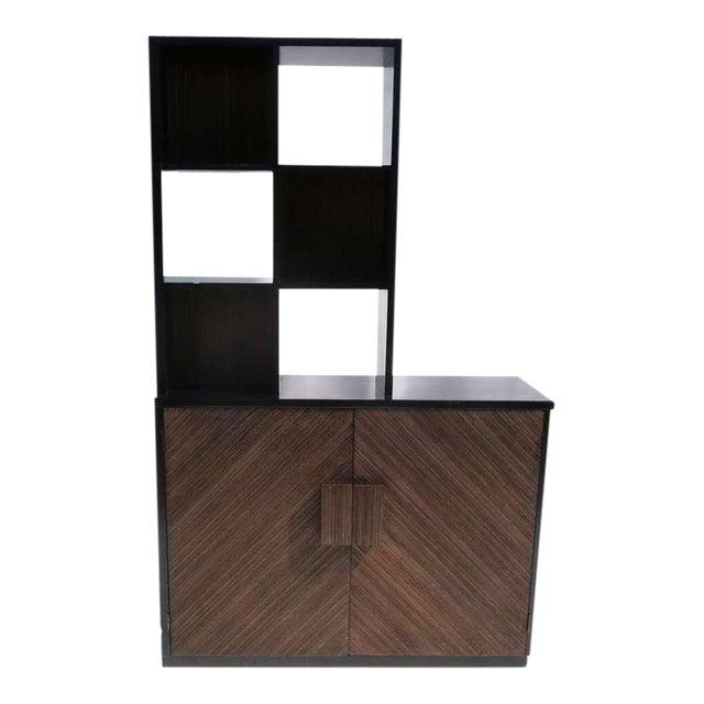 1950s Paul Frankl Stepped Room Divider Cabinet For Sale