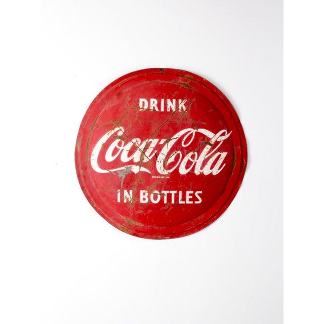 White 1950s Coca Cola Sign For Sale - Image 8 of 8