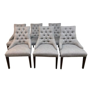Restoration Hardware Martine Dining Room Chairs- Set of 6 For Sale