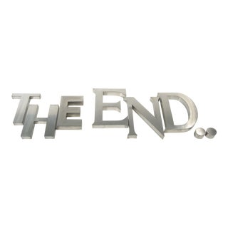 """Montauk , New York """"The End.."""" Wall Sign Letters For Sale"""