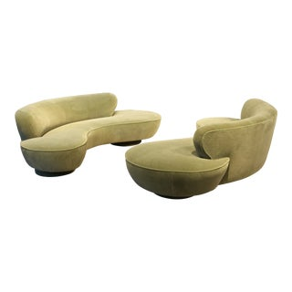Vladimir Kagan Pair of Sofas for Directional For Sale
