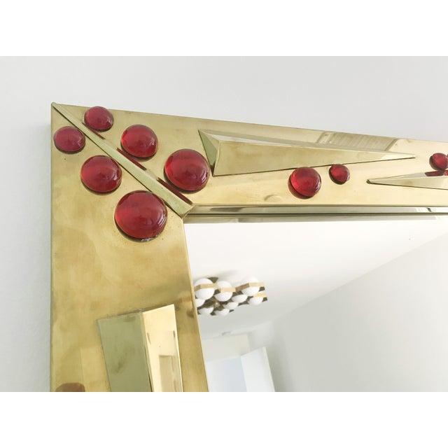 Metal Rubino Brass Mirror by Fabio Ltd For Sale - Image 7 of 10