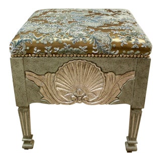 French Shell Hand Carved Stool