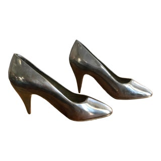 Brass High Heels - a Pair For Sale